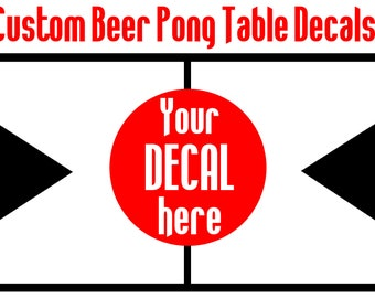Custom Beer Pong Table Decals; Beer Pong Table Designs; College University Logos; Team Logos DECALS ONLY