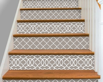 Stair Riser Vinyl Strips Removable Sticker Peel & Stick Set of 15steps : ST001
