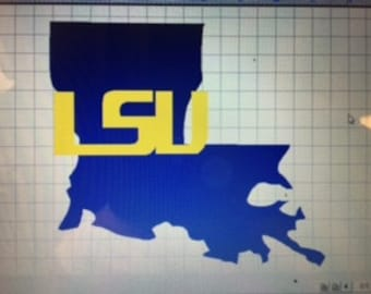 Large 18x18 LSU Louisiana