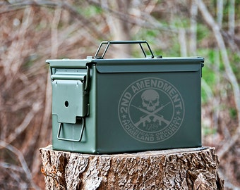 Personalized Ammo Can, Metal Ammunition Box, Gifts for Him