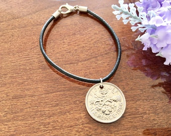 birthday gift for coworker, sixpence bracelet, birthday gift for friend, inexpensive gift for her, new year gift ideas, big sister gift