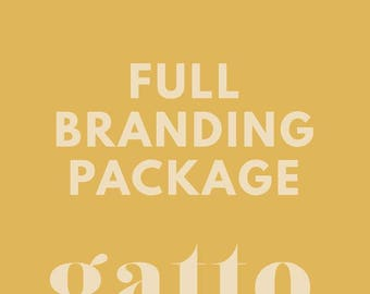 Custom FULL BRANDING Package - For Business Bloggers and Creatives - Custom Logo Design and Business Branding Kit - Custom Branding Board