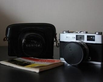 Konica Auto S2 Film Camera and Case