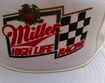 Vintage Miller High Life Racing Hat