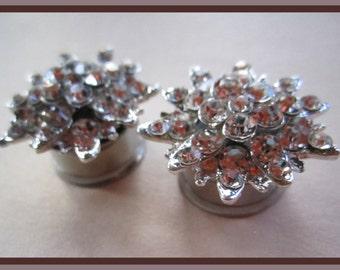 "Twinkle Sparkler on a Stainless Steel screw plug pick gauge size color 00g, 1/2"", 9/16"", 5/8"", 11/16"" aka 10mm, 12mm, 14mm, 16mm, 18mm"