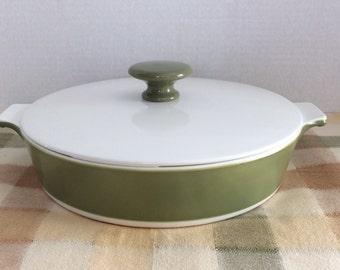 "Corning Ware 8.5"" Round Casserole  Dish Avocado Green Corning Ware Round Buffet Server 8.5"" Round"