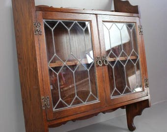 Old Charm Glazed Wall Cabinet