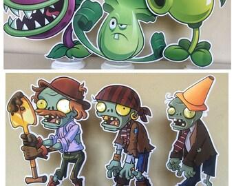 Plants vs Zombies Centerpieces, Plants vs Zombies Birthday Party Centerpieces