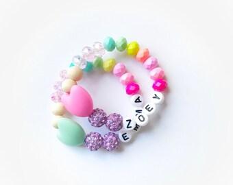 New heart colored bracelet