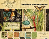 SALE!! NEW!! Graphic 45 Nature's Sketchbook 12x12 Paper Pad, SC007680