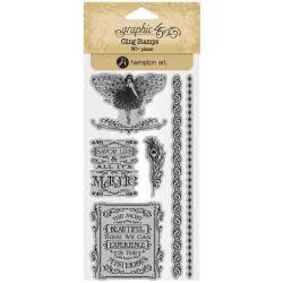 NEW! Graphic 45 Midnight Masquerade Stamps 3, SC007722