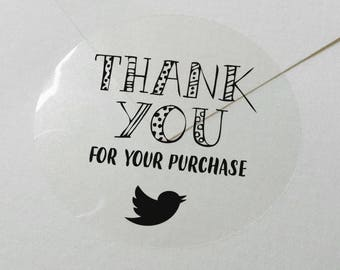 "100 x  Personalized ""Thank You for your purchasing""  custom Shipping Labels Stickers Seals / envelope seals #S03"