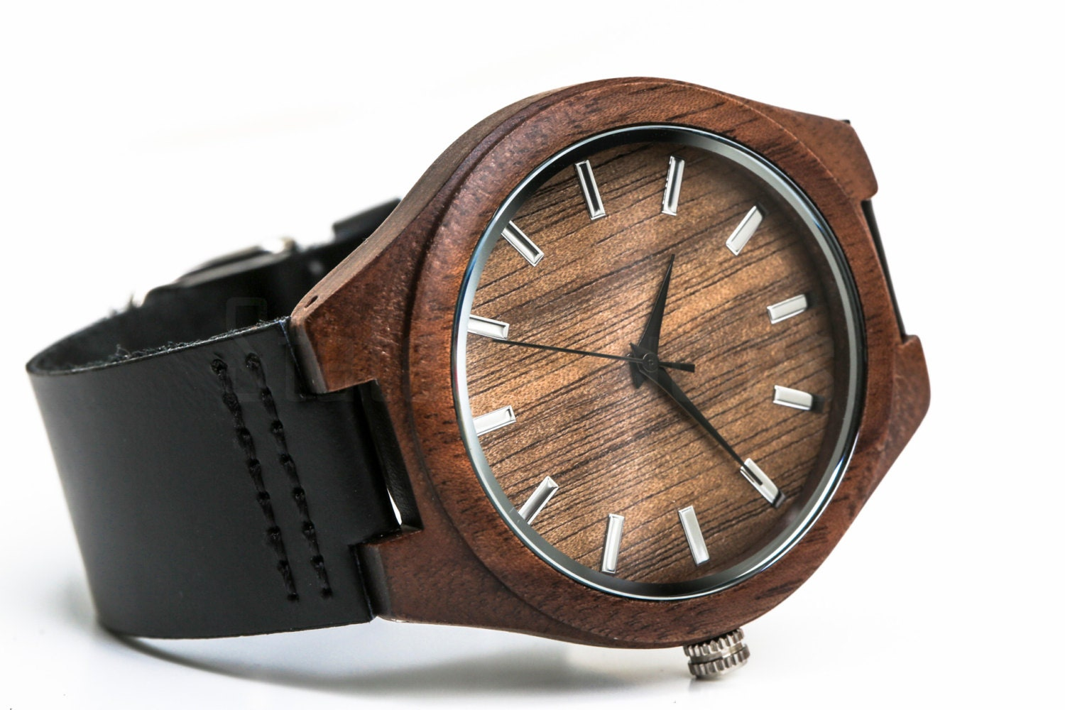 Custom engraved wooden watch watches for men persoanlized for Watches engraved