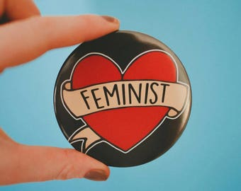 Feminist Pocket Mirror 77mm