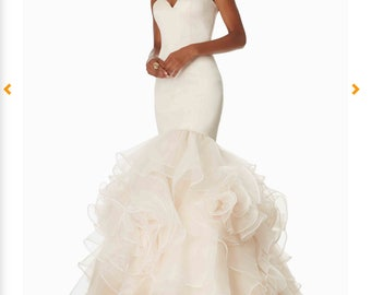 MORI LEE Fitted Mermaid Prom Dress