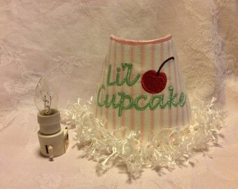 Lil Cupcake Embroidered Night Light