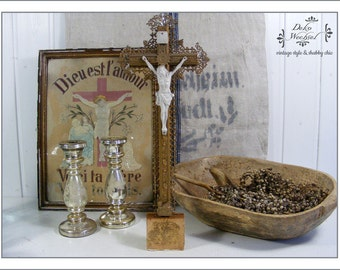 Antique crucifix from France