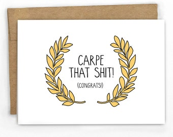 Funny Graduation Card | Congratulations Card by Cypress Card Co.