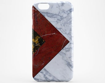 iPhone Case Gold Marble Phone Case iPhone 7 Case iPhone 7 Plus White Red Marble iPhone 6 Plus Case iPhone 4-5 Case iPhone SE Galaxy S7 Case