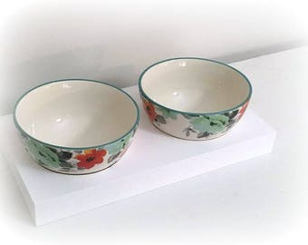 Floral Dog Bowls Set | Pet  Bowls with Stand | Floral Bowl Set for small Dogs | Dog Lover Gift | Pet Dishes | Pet Bowls | Dog Bowls | PETS
