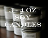 Pick 3 - 4 oz Soy Candles | Choice of Scents | Gift Boxed | Phthalate Free | Perfect Small Gift