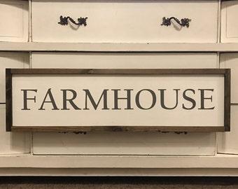 Farmhouse 10x34 / hand painted / wood sign / farmhouse style / rustic