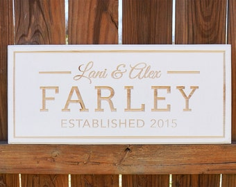 Family Sign Custom Engraved Wood Sign, Family Name Wood Sign, Personalized Wooden Sign, Housewarming Gift Wedding Gift