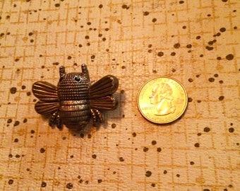 Antique silver vintage bug brooch