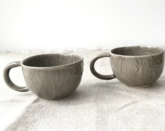 Handbuilt Teacups-Stoneware, Slight Seconds