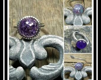 Sterling Silver Memorial Ash Ring / Memorial Ash Jewelry/ Pet Memorial Jewelry/ Ash Ring / Cremation Jewelry/10mm/60 Color Options
