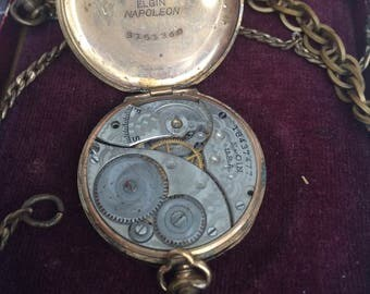 Elgin 1915 pocket watch 7 jewels size 3/0s grade 413 class 116