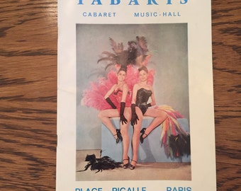 Vintage Tabaris Paris Cabaret Program
