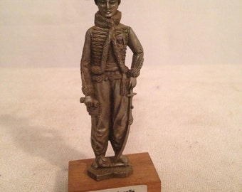 Figurine statue CHESTERMAN Prince GENERAL LASALLE Tin pewter