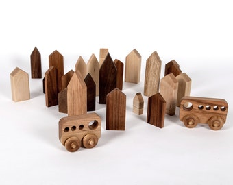 Small decorative wooden houses