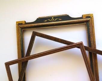 Art Deco Era Picture Frames, Set of Three