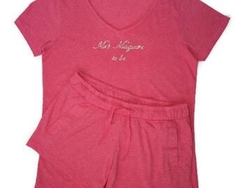 Personalised Shorts Pyjamas | Mrs T-shirt and Shorts
