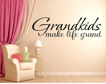 Grandkids Wall Decal Etsy - Make custom vinyl wall decals