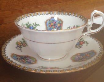 Aynsley fruit teacup and saucer