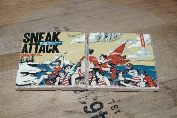 UPcycled Coaster (set of 2) - 21st Amendment - Sneak Attach