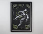 Non-perfect gemini space walk poster