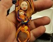Citrine Mama Goddess and Baby