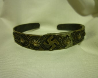 A26 Vintage Good Luck Bangle, Been Repaired.
