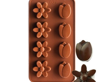 DAISY AND TULIP Silcone Chocolate Mold