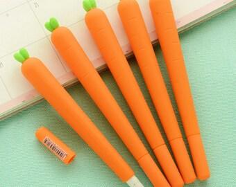 1PCS Cute Daucus carota Pattern Costume Carrot Fine point Black Gel pen