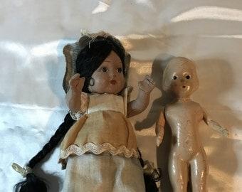 Two, Vintage, Composite, Dolls