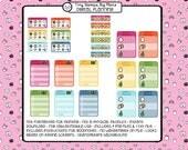 Digital planner stickers for tablet planning