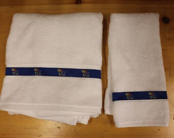 University of Kansas Jayhawks Ribbon Bath and Hand  Towel Set