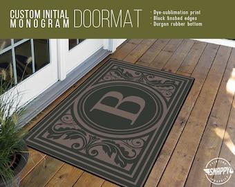 Monogram door mat | Etsy