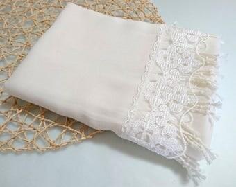 bridesmaid shawl, wedding shawl, wedding, scarf, Ivory, wedding gift, gift for bridesmaid, bridesmaid scarf, pashmina scarf, lace scarf