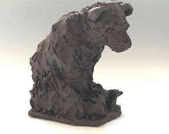 Black Bear Ceramic Sculpture